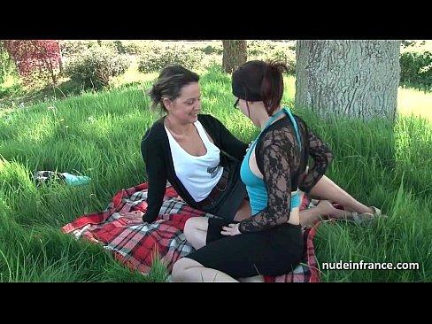Sweet provocative milf in voyeur video outdoor