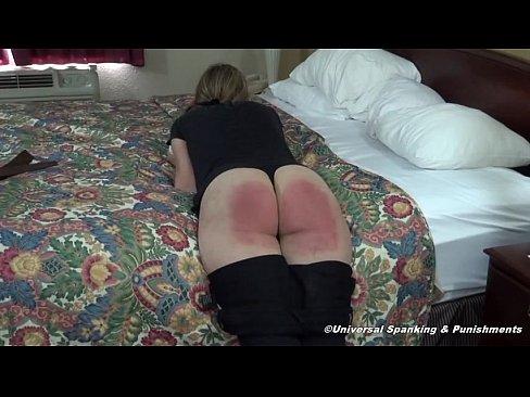Very hard spanking