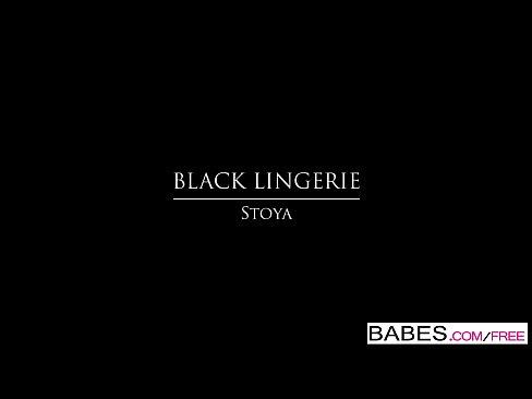 Babes – BLACK LINGERIE – Stoya