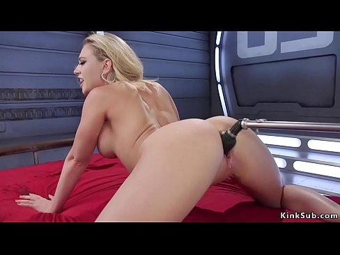 Blonde heels big tits video