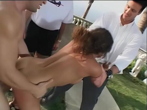 Girls showing pussy through bikini