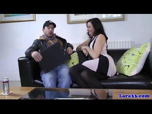 british milf cockriding in stockings