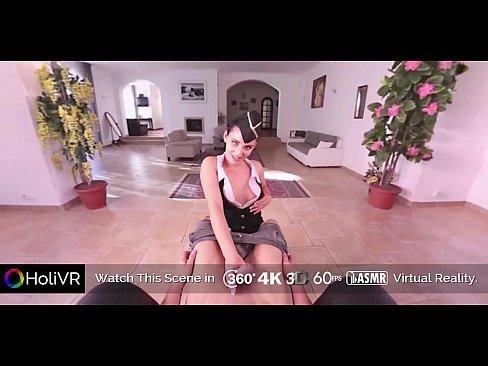 [HOLIVR] Horny Stewardess In Virtual Sex   360 VR Porn