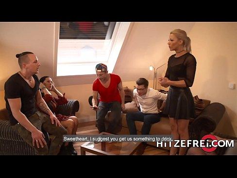 HITZEFREI Blonde German babe Helena Moeller drilled deep