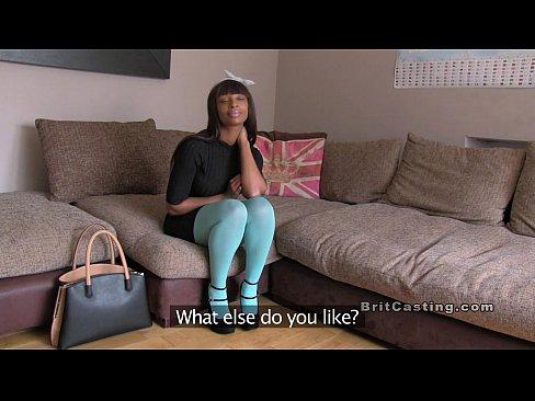 Ebony anal casting