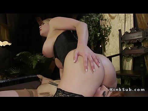 Huge ass busty lesbian blonde anal fucked