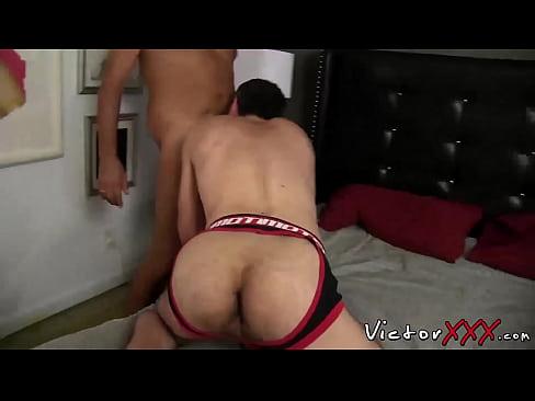 Daddies enjoying in blowjob and bareback hardcore sex