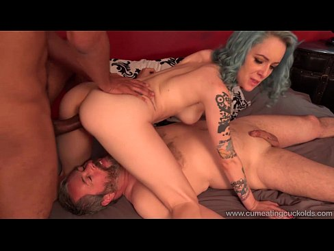 Eating forced Bondage HD cum and