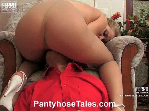 Lick my pantyhose