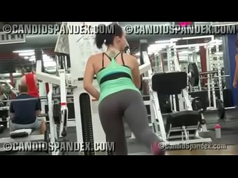 xhamster.com 2982628 fitness center girl slut in hot tight tight spandex leggings exhibiting her booty
