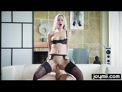 blonde submissive slut gets fucked while sleeping