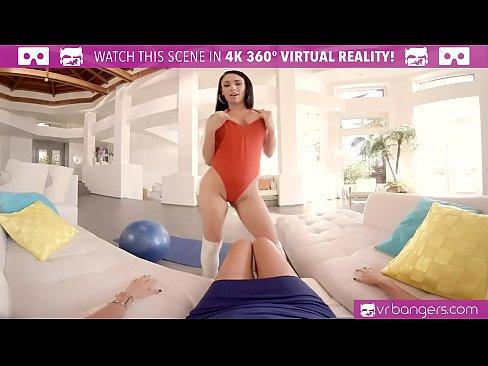VRBangers.com Big tits Latine tease and masturbate