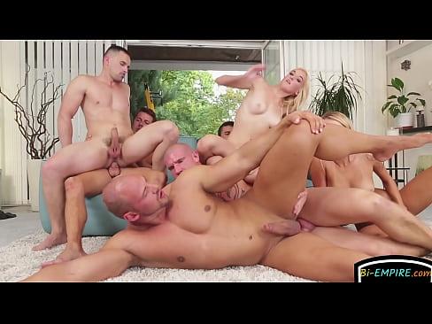Cockloving euro studs enjoy an orgy