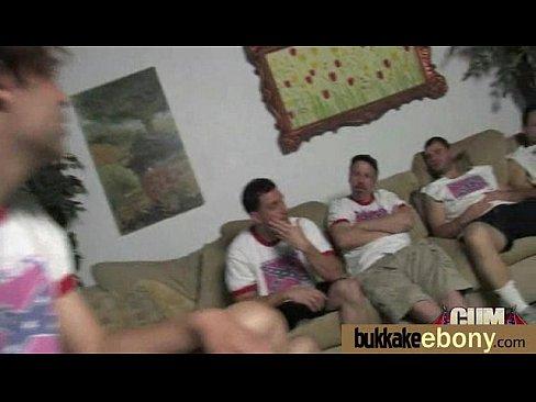 Hot cum loving nice teen enjoys enormous messy bukkake! 6