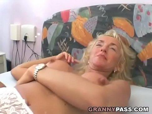 Hairy busty granny