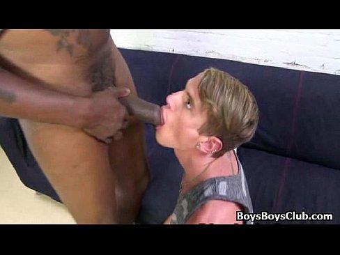 Black stud fucks white boy