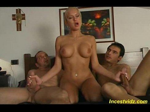 Italian family threesome