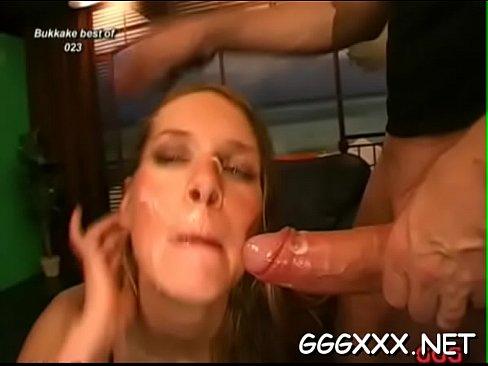 Lascivious darlings take enjoyment in receiving facial cumshots