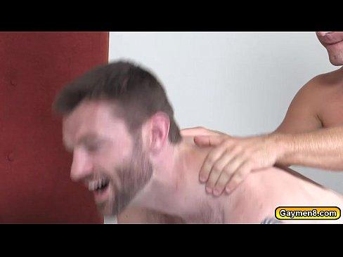Nasty gay guy gets bukkake