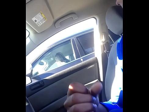 Flashing milf in car 001