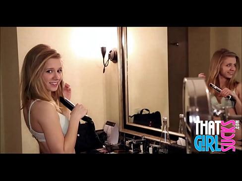 Skinny Blonde Teen Showing Perfect Body And Sucking My Cock – ThatGirlSucks.com