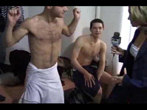 Cfnm interview in lockroom