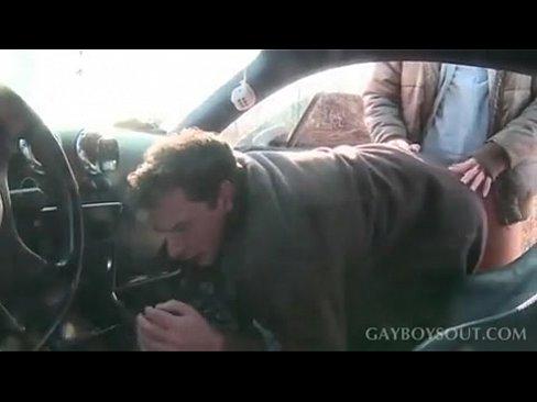 Camsex99-gay Cruising COLD! FUCK IN CAR HOOT! P.E.I