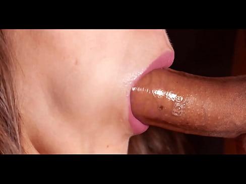 MILF Blowjob and Swallow Closeup – Cristall Gloss