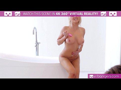 VRBangers.com HOT BLONDE Alix Lynx cought by boyfriend masturbating
