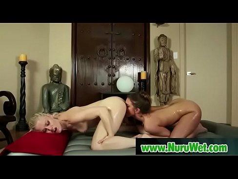 Hot asian masseuse in nuru oil massage 04