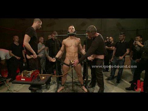 Gay Leather Gangbang