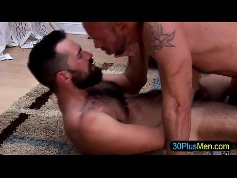 Interracial gay bang and tug