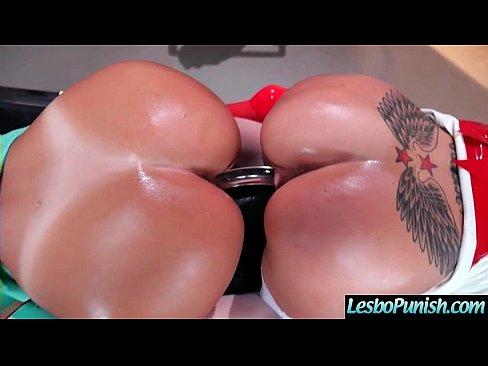 Punish Hard Sex Using Sex Toys Between Lesbians Girls (august&starri) video-08