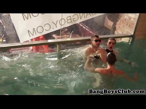 Jock Sucking By Swimming Pool