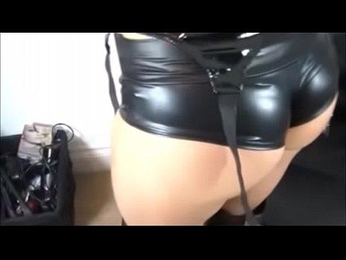 Huge dildo stuffed up the ass
