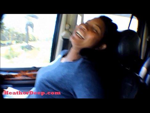 Difficult tell. Deepthroat in car video