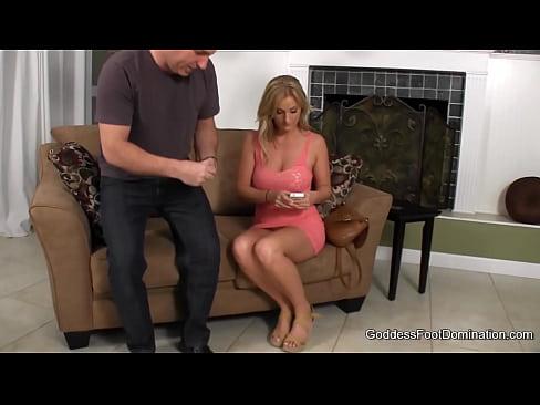 Sub husband femdom wife cum milking
