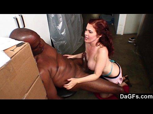 Busty Slut Sucking Her Boss's Big Black Cock