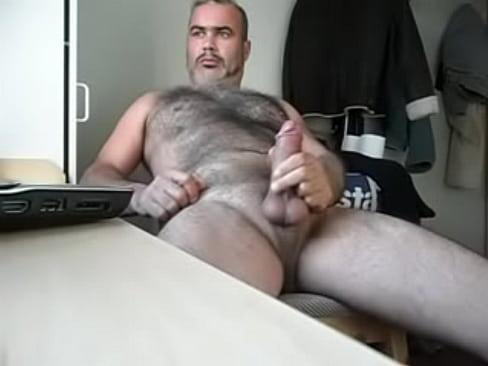 Gray Bear Wanking Cumming