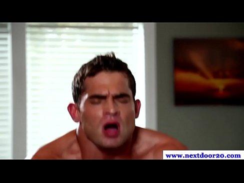 Jock in threeway gets plowed with muscle
