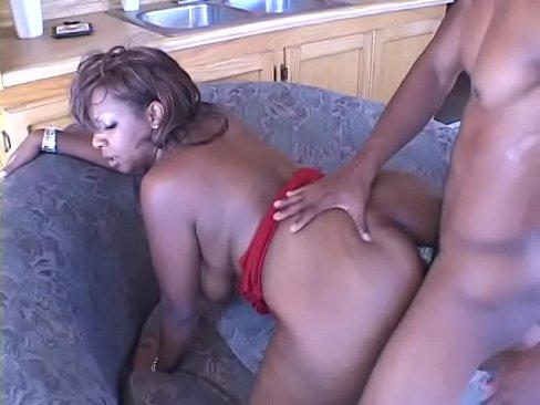 Big ass ebony ho Juana Lick Ya rides BBC on the couch then gets facial