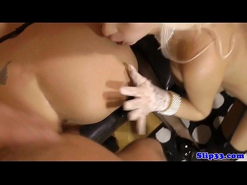 Black on blonde pornostar