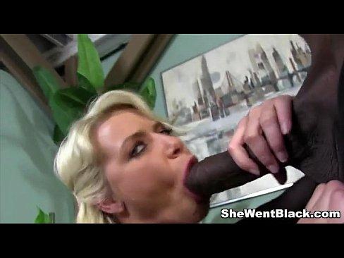 Blonde Gets Hammered By Black Man's Huge Dick