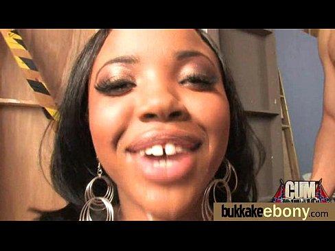 Nice ebony Hot gang bang and CUM FEEDING 18
