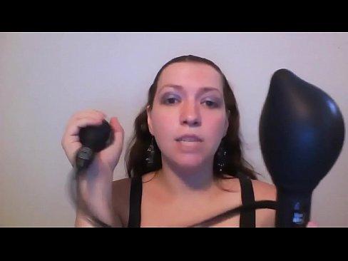 Inflatable anal butt plug
