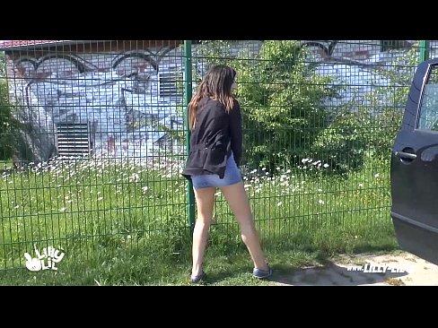 Aficionados alemanes follar al aire libre