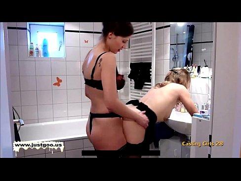 hot lesbian strapon action