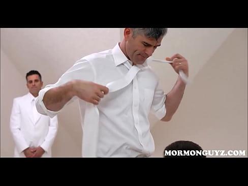 Creepy Mormon Mission Leader Rough Fucks Twink