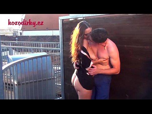 voyeur examinig pussy on the porn shooting