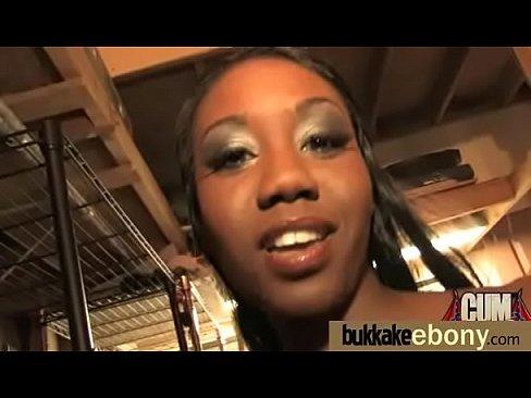 Scorching nice ebony bukkake cumshots hardcore gangbang 9